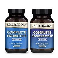 Dr. Mercola Complete Gut Restore Pack (90 Servings), Spore Restore 4 Billion CFU...