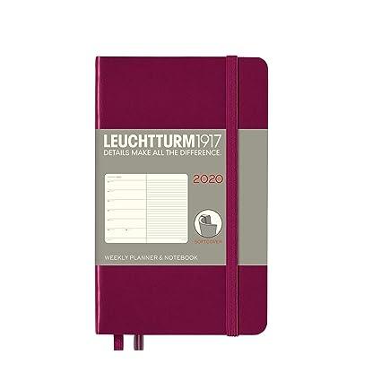 Agenda semanal y cuaderno 2020, tapa blanda, tamaño A6, 12 ...