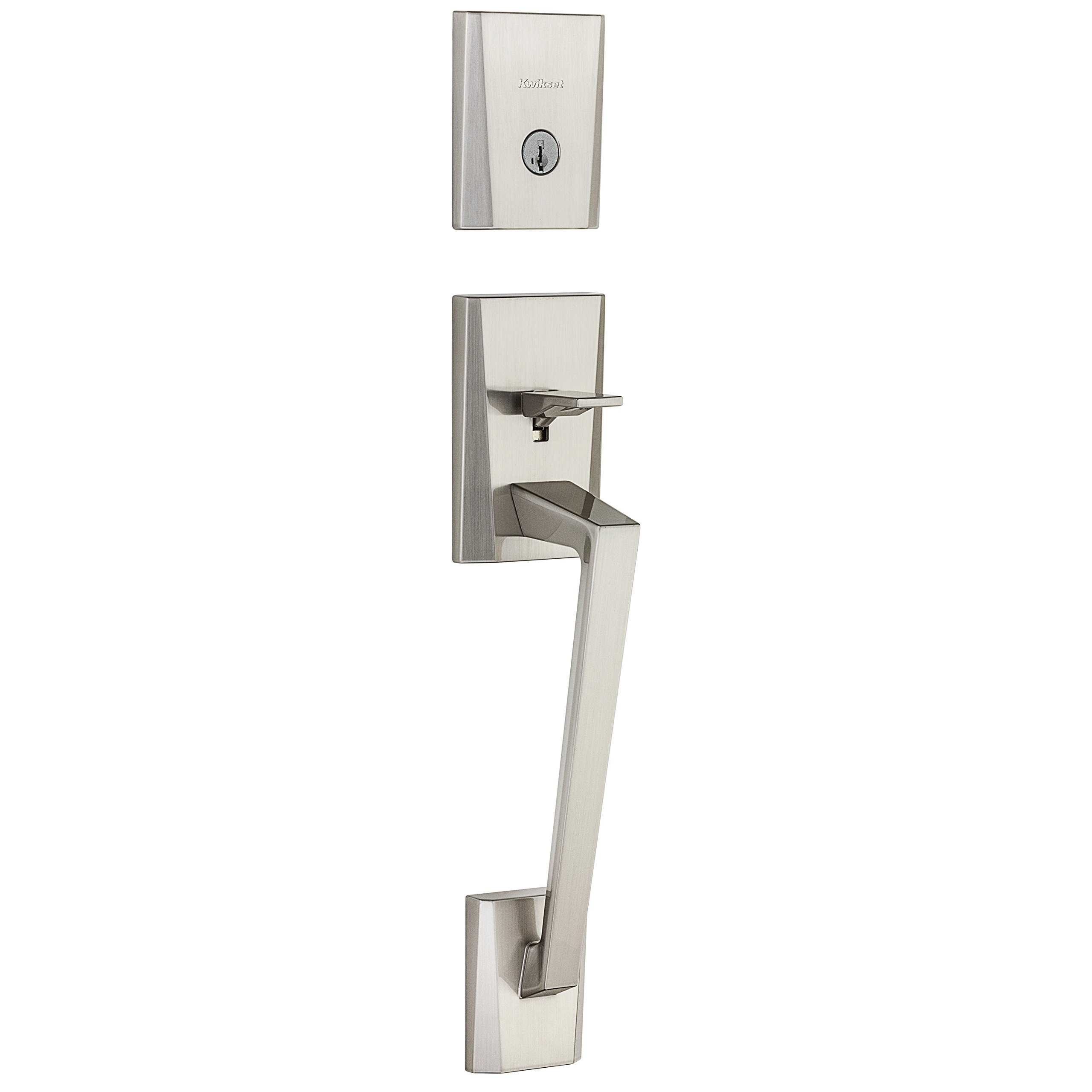 Kwikset 98180-003 Camino Single Cylinder Low Profile Handleset with Halifax Lever Featuring Smartkey In Satin Nickel by Kwikset (Image #2)