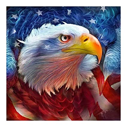 Easy Painter 5D DIY Diamond Painting Painted Animals Eagle Mosaic  Embroidery Animal Cross Stitch Embroidery Crafts Decoration