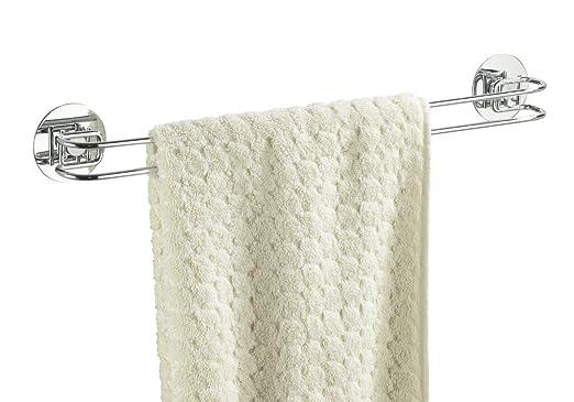 80 opinioni per WENKO 18769100 Turbo-Loc porta asciugamani- fissaggio senza trapano, Acciaio, 46