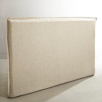 housse de tte de lit 160 cm lin lav beige