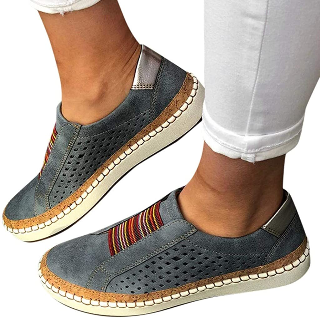 Details about  /Summer Women PU Leather Hollow Fitness Walking Sneakers Breathable Nurse Shoes D