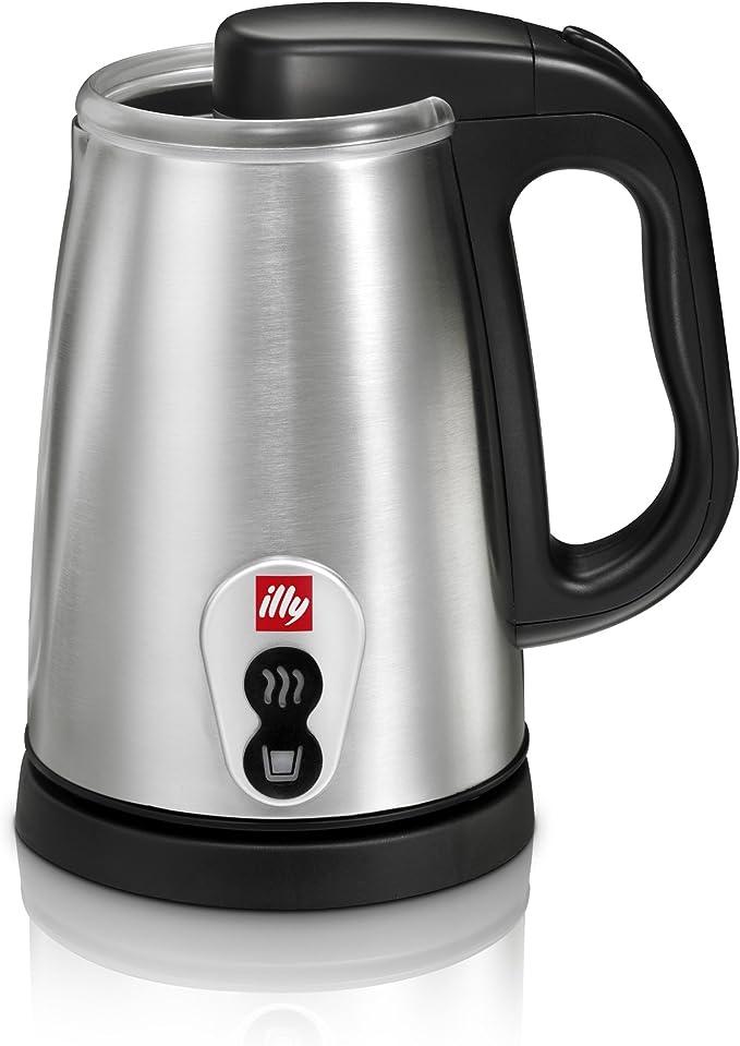Illy Milk Frother Negro, Gris - Espumador de leche (115 mm): Amazon.es: Hogar