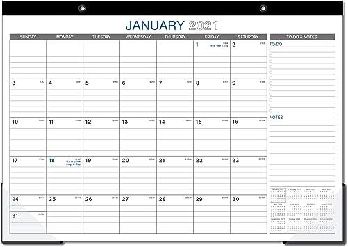 Desk Calendar 2021-2022 Amazon.: 2021 2022 Desk Calendar   18 Months Large Monthly