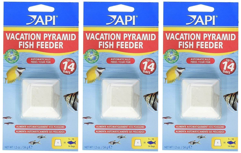 (3 Pack) API 14-Day Pyramid Fish Feeders