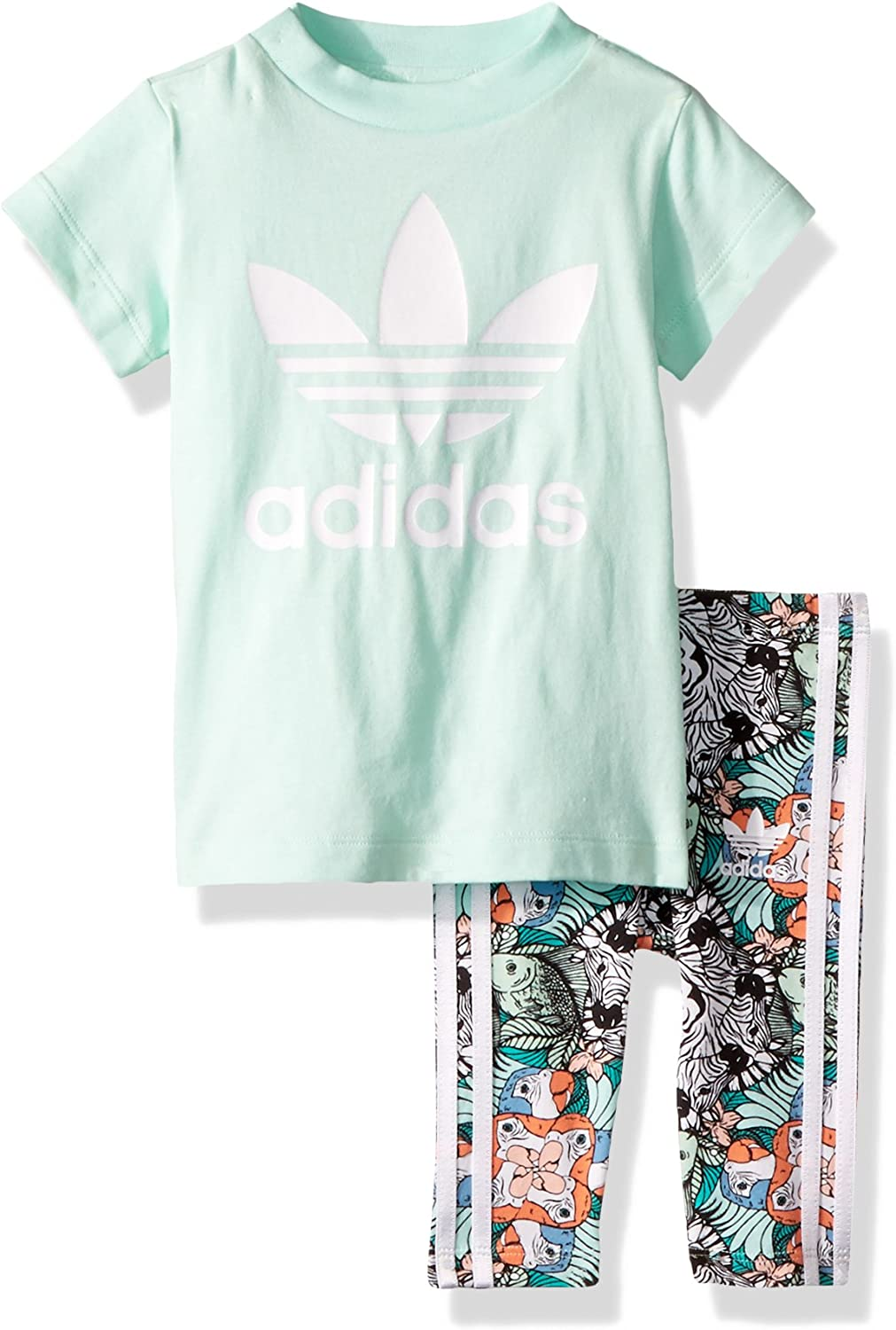 adidas legging en shirt set
