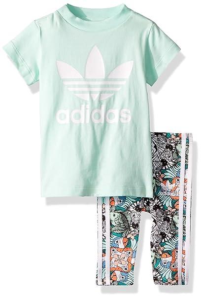 b03ad0d548fe adidas Originals Baby Infant Zooanimal Print Tee Set