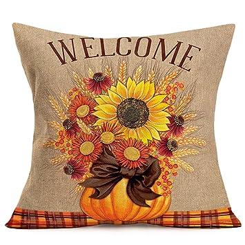 Amazon.com: Smilyard - Funda de almohada cuadrada de algodón ...