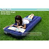 NYRWANA Inflatable Single Air Bed/Mattress (Blue)
