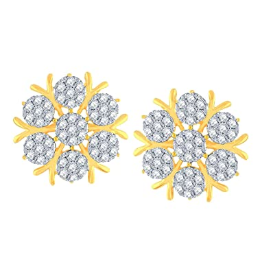 746532c8a Buy NAKSHATRA 18KT Yellow Gold and Diamond Stud Earrings for Women Online  at Low Prices in India | Amazon Jewellery Store - Amazon.in