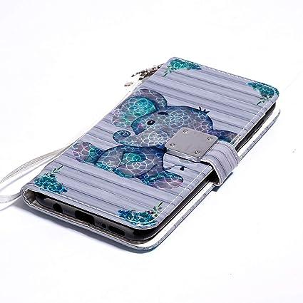 WIWJ Funda Samsung Galaxy A50 Carcasa 3D Espejo Disney PU Piel ...
