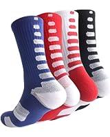 Boys Sock Basketball Soccer Hiking Ski Athletic Outdoor Sports Thick Calf High Crew Socks 6 Pack