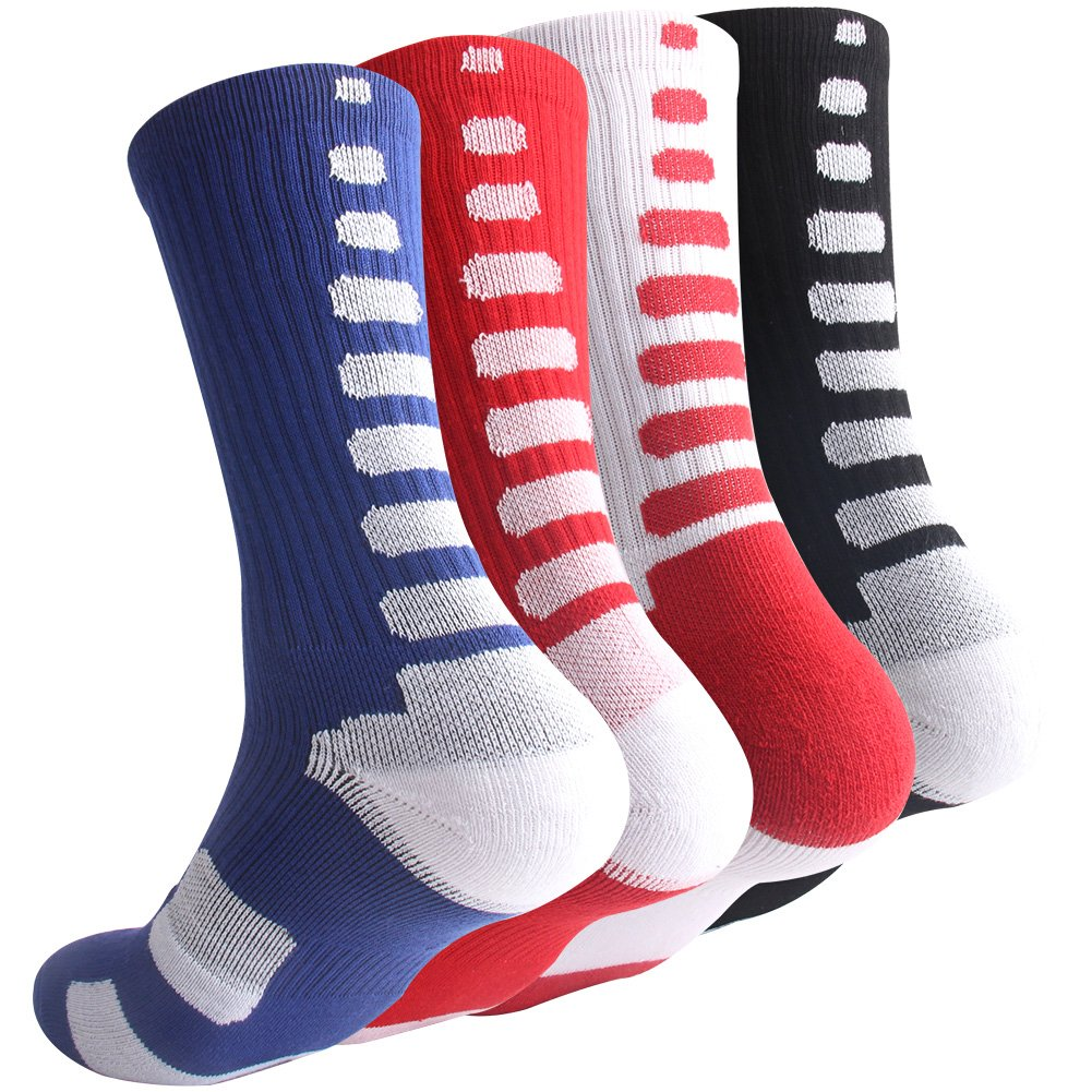 Boys Sock Basketball Soccer Hiking Ski Athletic Outdoor Sports Thick Calf High Crew Socks 6 Pack OLCHEE30