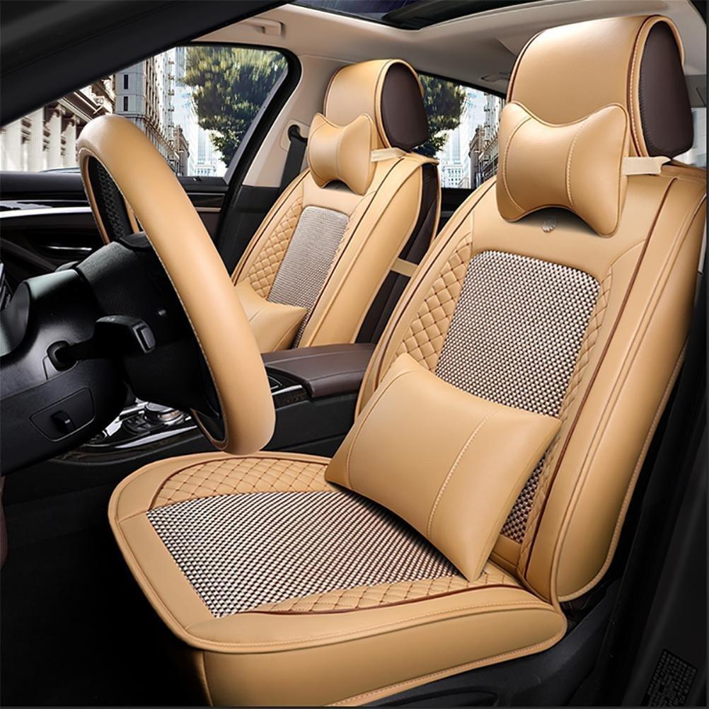 YAOHAOHAO 10 pcs programmable ice silk car seat covers automotive leather seat cushion for universal 5 car seat four seasons