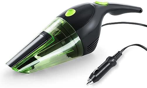 PUPPYOO WP708 Aspirador para Coche Aspirador Portátil de Coche Aspirador de Mano, DC 12V Potencia 120W, Verde: Amazon.es: Coche y moto