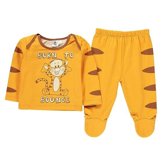 6b8e1049d139e Tigger 2 Piece Pyjama Set Infant Baby Orange Pajama Sleepwear: Amazon.co.uk:  Clothing