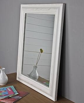 x cm espejo de pared blanco de madera marco de fotos
