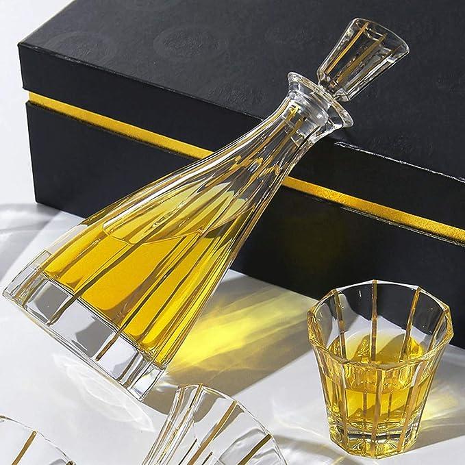 ZCXBHD 7-Piece Whiskey Gift Set, 100% Sin Plomo Cristalino ...