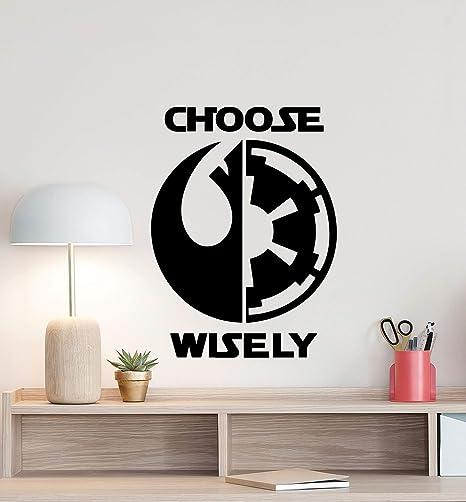 Star Wars Personalized Jedi DIY Wall Art Sticker//Decal//Mural bedroom playroom