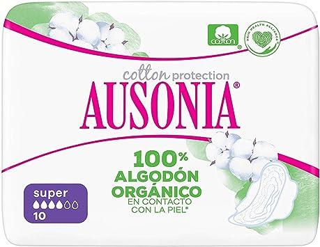 Ausonia Cotton Protection Super (tamaño 2) Compresas Con Alas, 10 ...