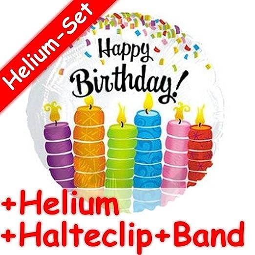 Carpeta Globo Juego * Happy Birthday Velas + Helium Relleno ...