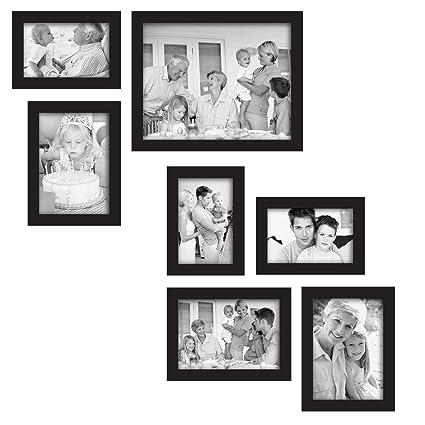 Amazon.com - MCS 7-Piece Gallery Frame Set, Black (49709) - Luxury ...