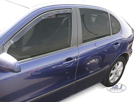 J J Automotive Windabweiser Regenabweiser Für Seat Leon Ii 5 Türer 2006 2012 2tlg Heko Dunkel Auto