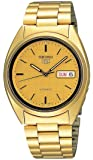 Seiko Men's SNXL72 Seiko 5 Automatic Gold-Tone Stainless Steel Bracelet Watch with Patterned Dial