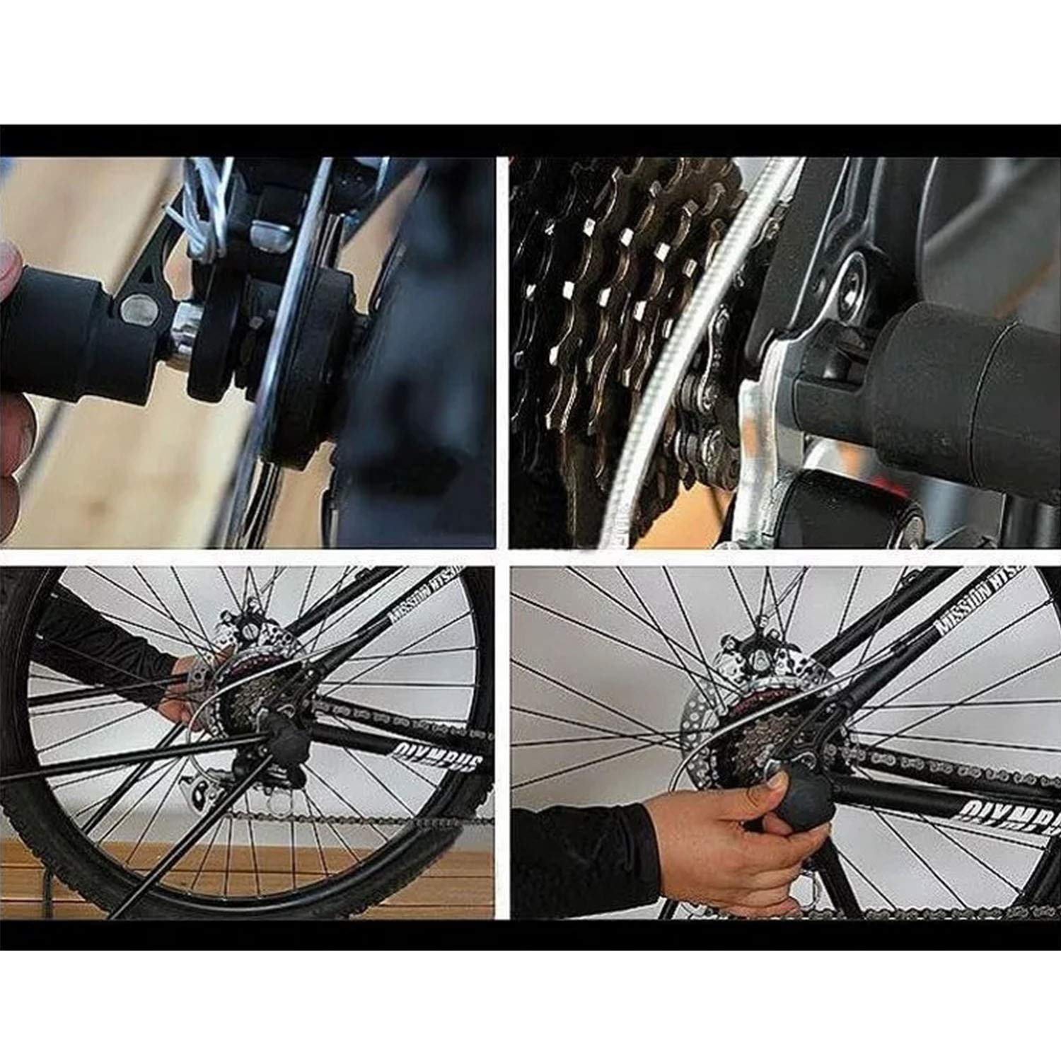 Your only family Practical U-Shaped Bicycle Parking Rack Mountain Bike Bracket Bicycle Display Stand Maintenance Rack Sample Support Frame Durable by Your only family (Image #3)