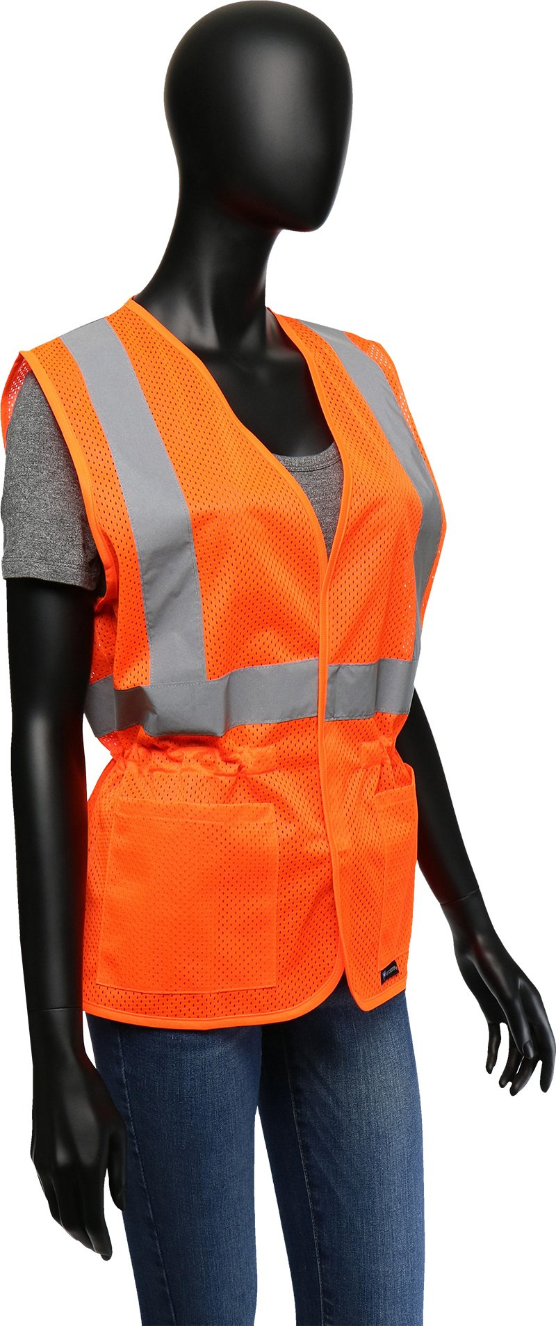 West Chester 47208 Class 2 High Visibility Ladies Fitted Mesh Vest: Orange, Small/Medium by West Chester