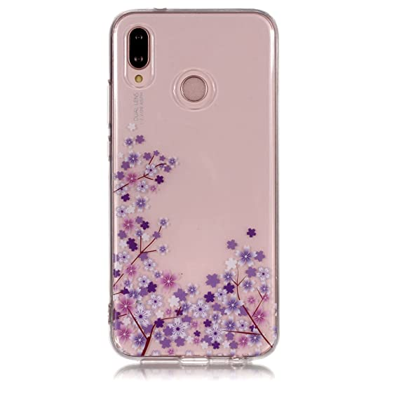 cheap for discount 57728 06154 Huawei P20 Lite Case, Clear Hybrid Fancy Colorful Pattern Hard Soft  Silicone Back Case Cover for Huawei P20 Lite/Nova 3e Phone (10)