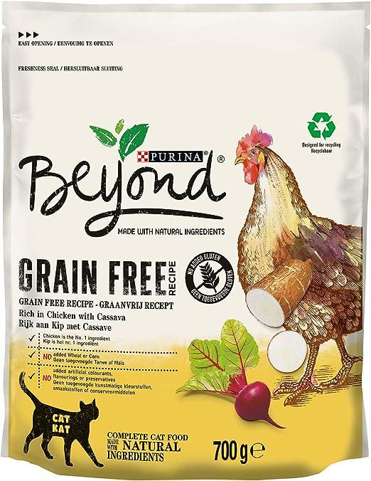 Purina Beyond Grain Free - Pienso Natural con Pollo para Gatos, 6 ...