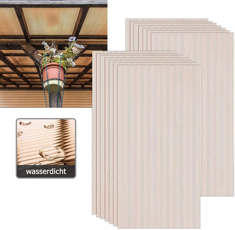 Gew/ächshaus 122 cm x 62 cm x 7,5 cm Home Deluxe Hohlkammerplatten Doppelstegplatte Hohlkammerstegplatten UV-Gesch/ützt 14-teiliges Set
