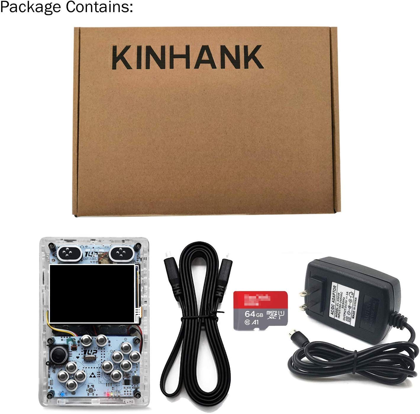 KINHANK 3.5 inch HDMI output Handheld game player, Raspberry Pi 3 B+ Game console With Retropie or Recalbox system, support over 50 emulators and 50,000 games by KINHANK (Image #7)
