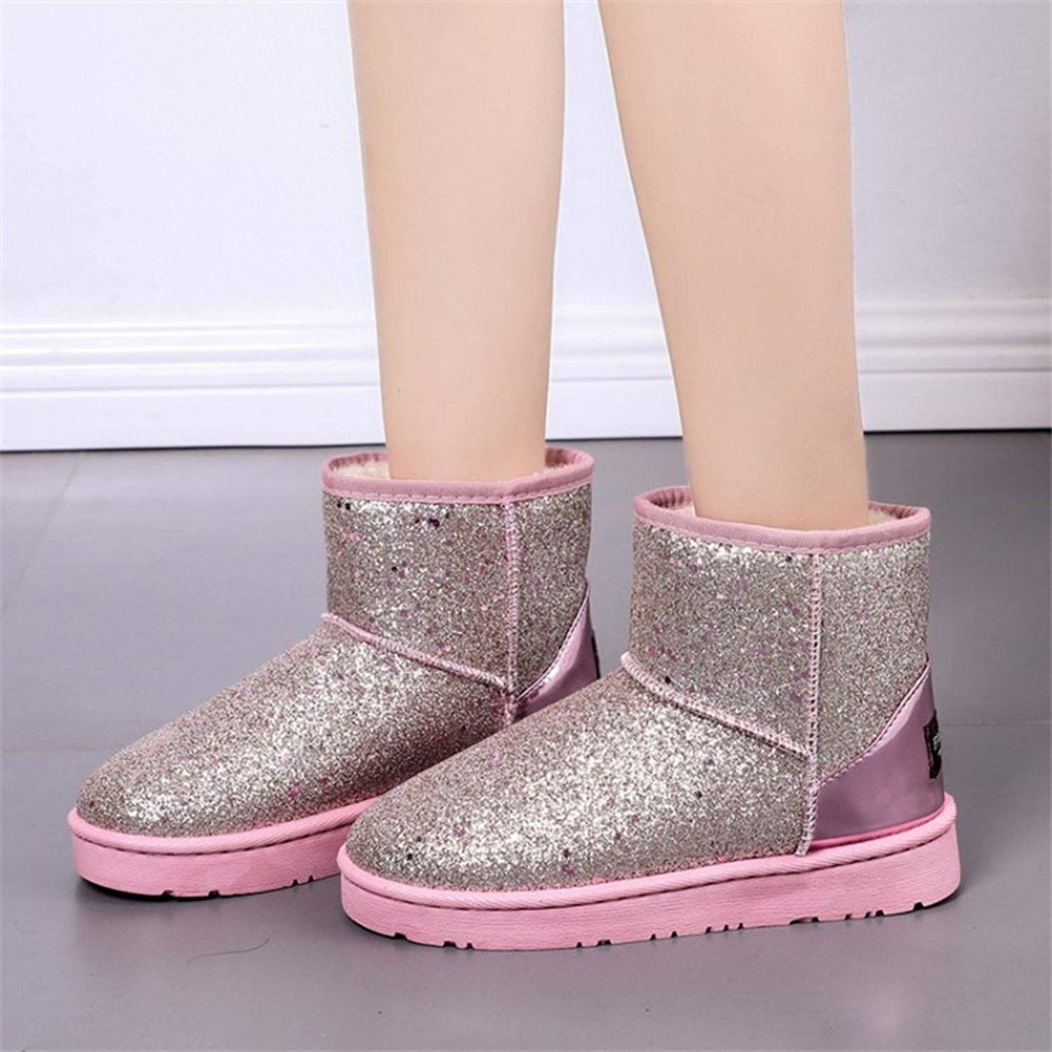 mybeautifulstore 1 Winter Boots Women Ankle Boots Glitter Warm Snow Boots Platform Shoes Woman Comfortable