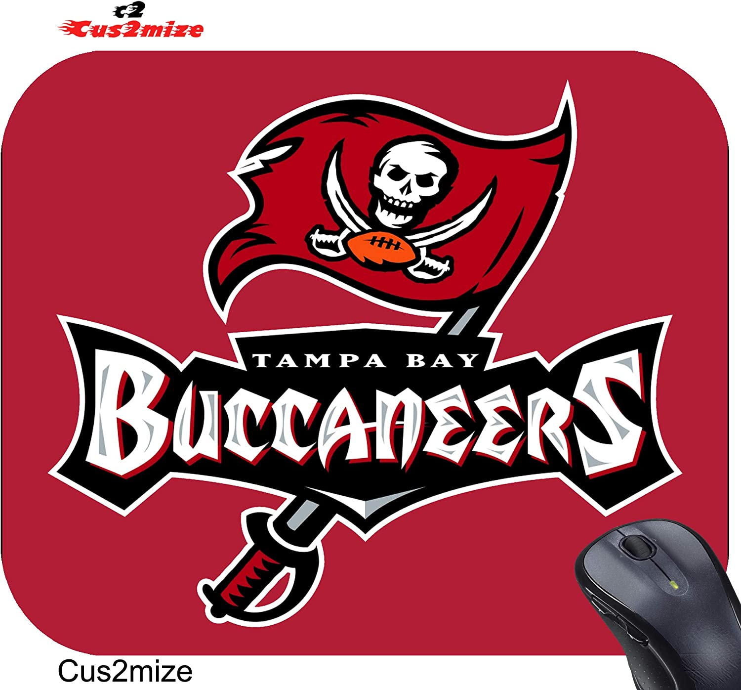 TTNUNU Round Mouse Pad Tampa Bay Buccaneers Durable Mouse Pads 7.9x7.9 in