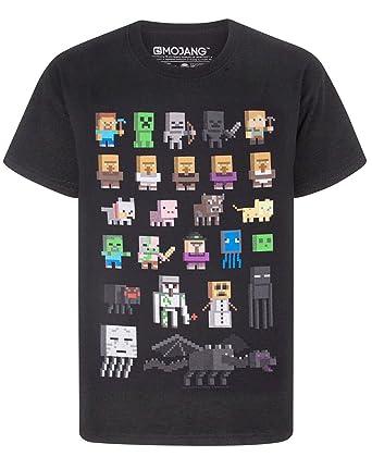 Minecraft - Camiseta para niño - Minecraft - Negro - 14 - 15 Años: Amazon.es: Ropa y accesorios