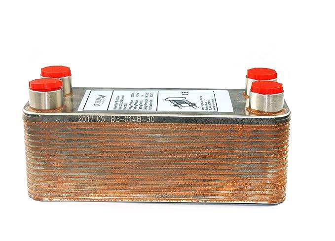 ... de calor para calentador de agua - Brazed 30 platos de acero inoxidable chiller para cerveza casera - RC 1/2