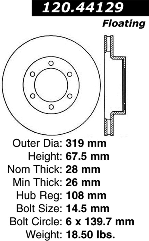 Power Slot 126.44129CSR Slotted Brake Rotor