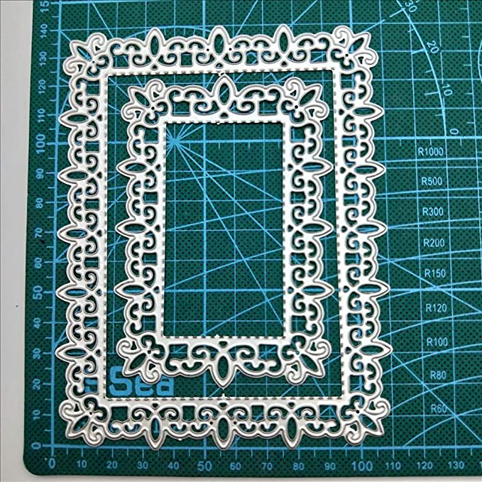 Rectangular Frame Shading Metal Cutting Dies DIY Stencil Embossing Scrapbooking