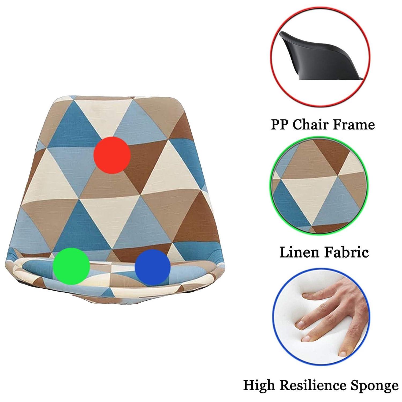 Bekväm ryggstödsstol hem liten svängbar kontorsstol ergonomisk dator skrivbord stol konferensrum uppgift stol med linne tyg svamp PP material helt justerbar, grå BEIgE