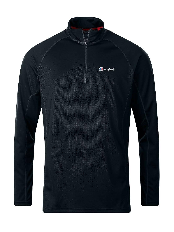 Berghaus Men's Tech 2.0 Zip Neck Longsleeve T-Shirt