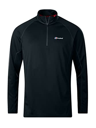 611c2fb4d Berghaus Men's Tech 2.0 Zip Neck Longsleeve T-Shirt: Amazon.co.uk ...