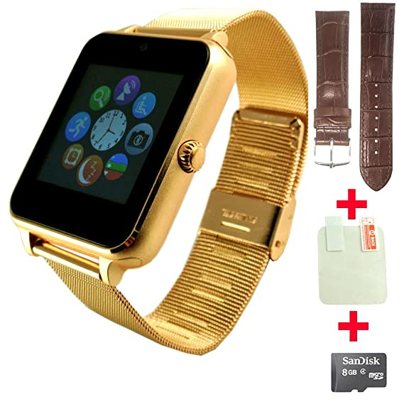 Amazon.com: Fathers day gift OCTelect metal Smart watch SYNC ...