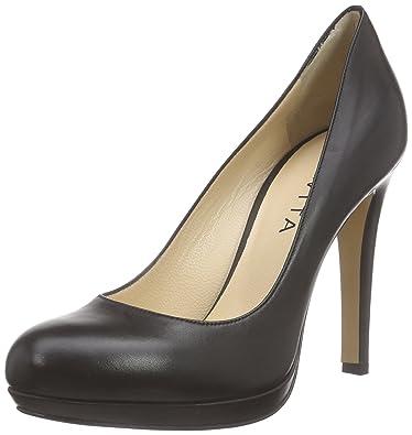 Pump, Escarpins Bout Fermé Femme, Noir (Schwarz 10), 40 EUEvita Shoes