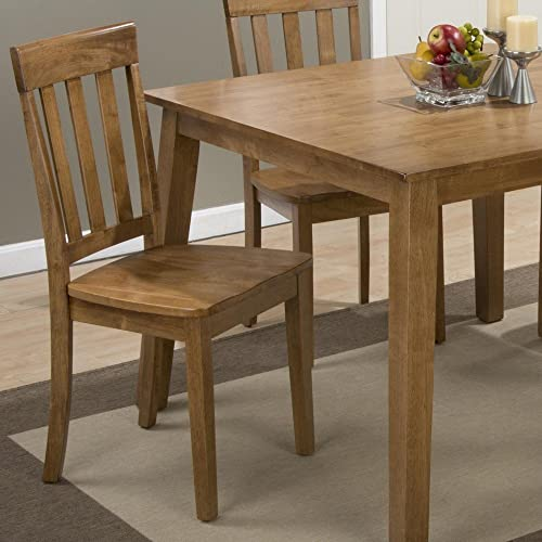 Jofran Simplicity Wood Slat Back Dining Chair in Honey Set of 2