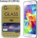 Samsung Galaxy J5 (2016) Gorilla Tech ® Premium Tempered Glass Screen Protector Invisible Shield HD Cover 9H Hardness Crystal Clear HD Quality Shatter & Scratch Resistant
