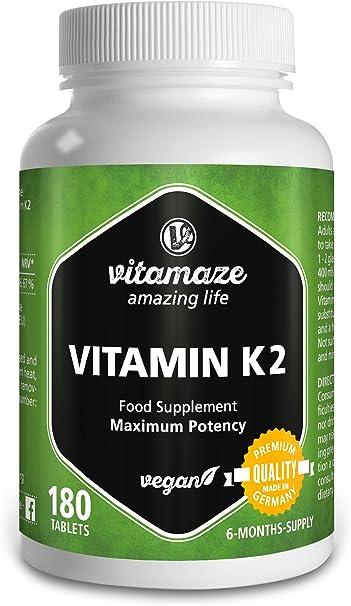 Vitamaze® Vitamina K2 MK-7 200 µg altamente dosificada ...