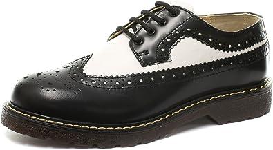 White Mens Lace Up Brogue Shoes